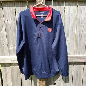 ISUZU Truck 1/4 Zip Pullover on Antigua in XXL